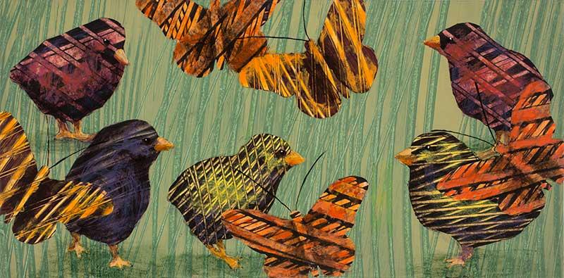 Chicks-and-butterflies-no.-2--6x18-Ann-Munson