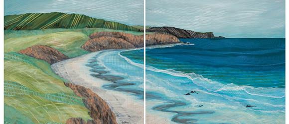 California-Beach-diptych-36x72