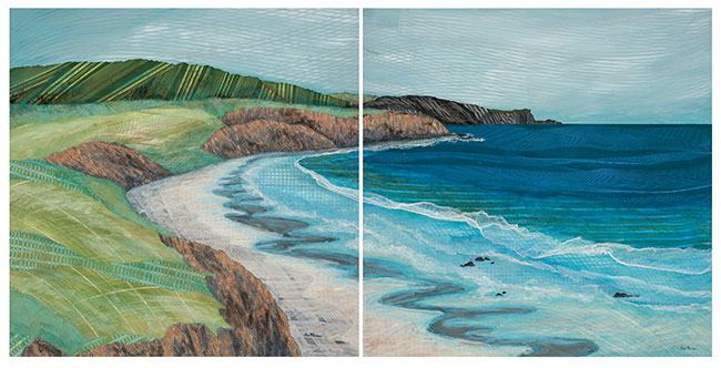 California-Beach-diptych-36x72