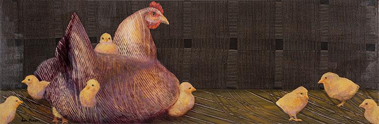 Hen-and-Chicks-10x30-Ann-Munson