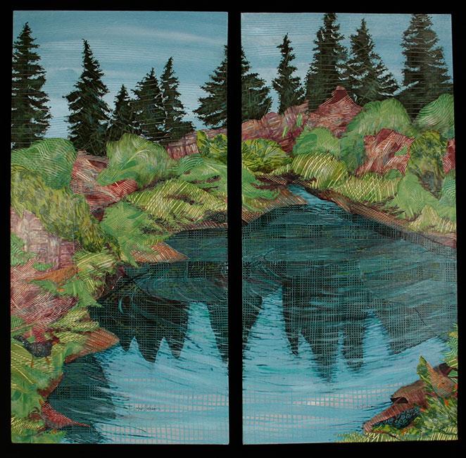 Pond-Below-Oswego-Lake-Diptych-Ann-Munson