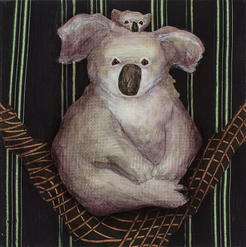 Koala-and-Baby-10x10-Ann-Munson