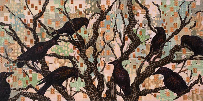 Crows,Frankfurt-18x36-Ann-Munson