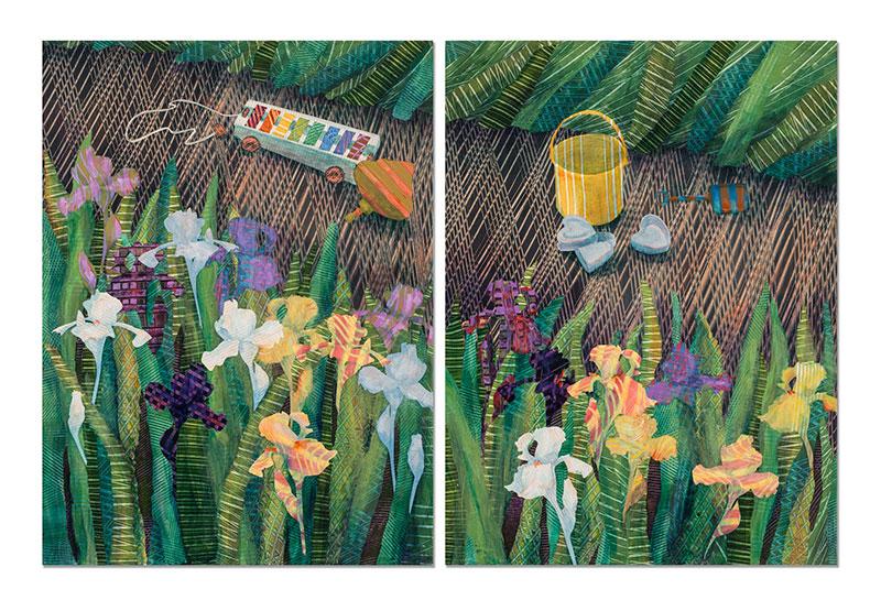 GardenWithXylephone-Diptych-24x36-Ann-Munson