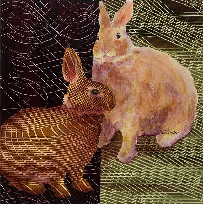 Rabbits2-18x18-Ann-Munson